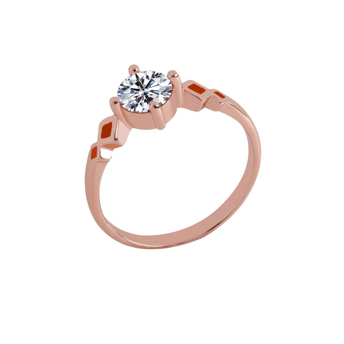 Silver Shine Rose Gold Plated Elegant Classic Crystal Cross Style Solitaire Ring for Girls and women,wedding ring,jewelry,diamonds,fashion jewelry,couple rings .