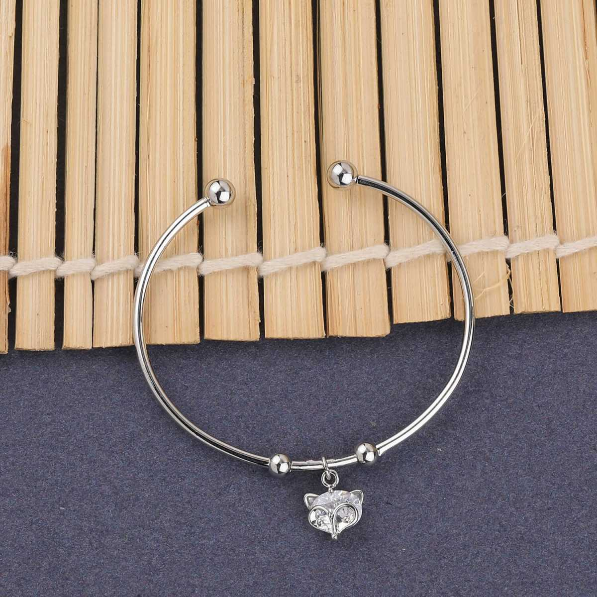 SILVER SHINE Party Wear Designer Adjustable Bracelet With Diamond For Women Girls