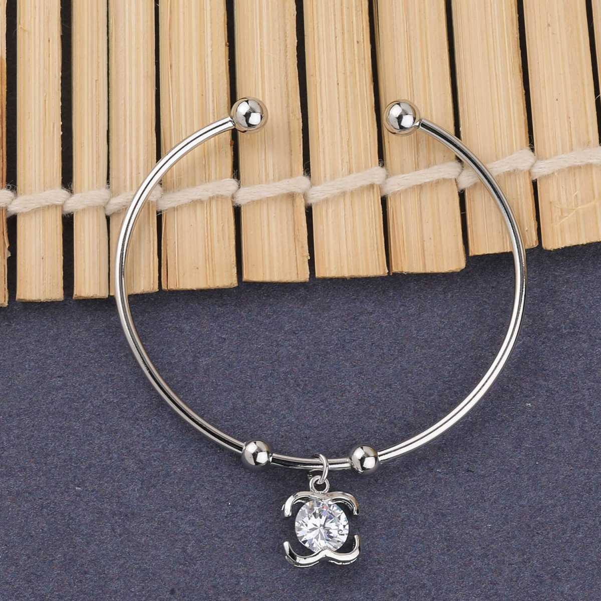 SILVER SHINE Party Wear Fancy Look Adjustable Bracelet With Diamond For Women Girls