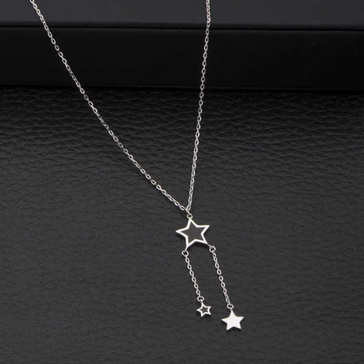 Hanging Black Stars Chain