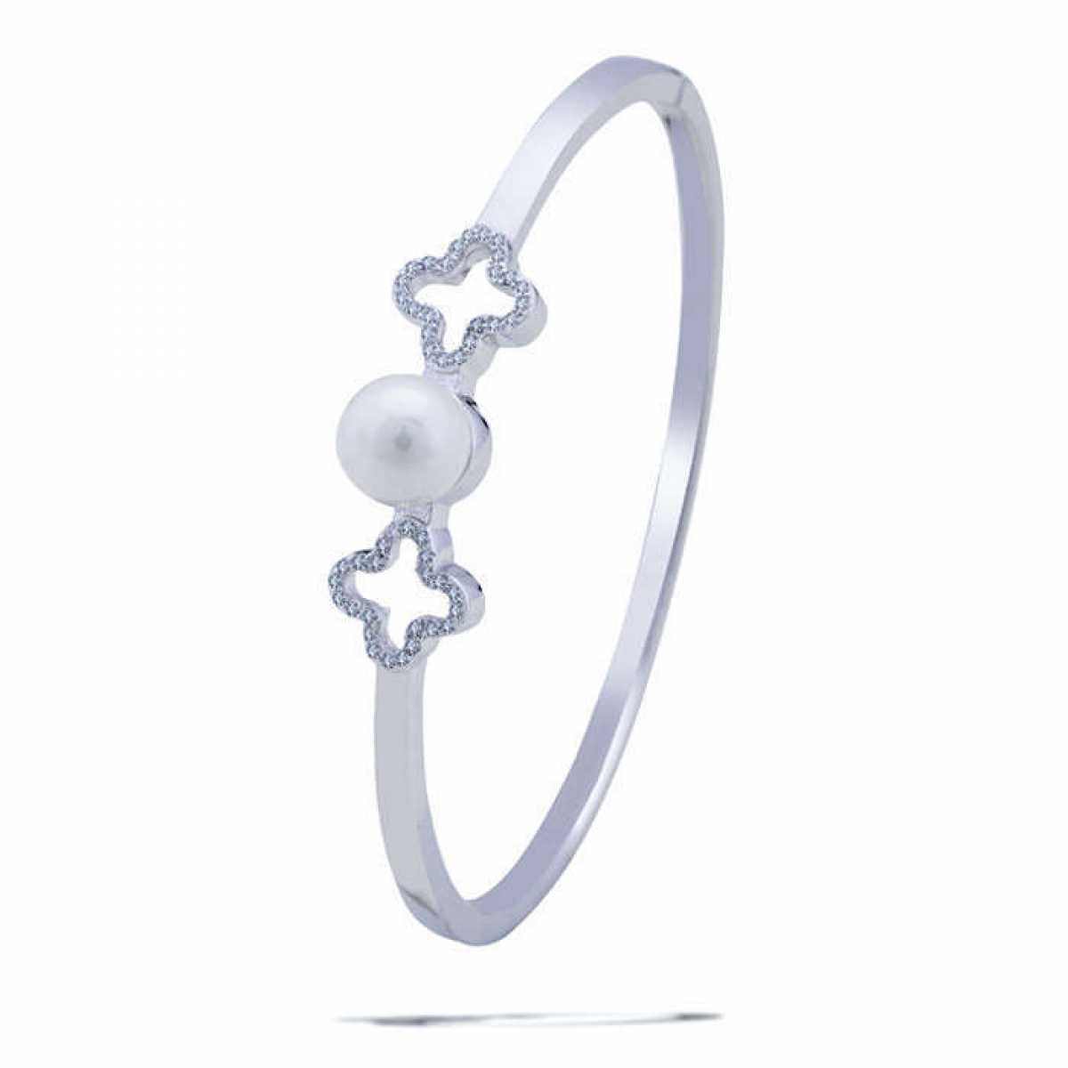 Two Plus With Pearl Hard Bracelet