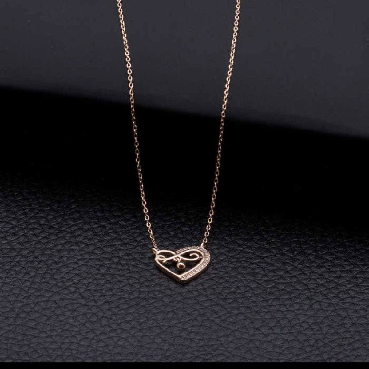 Rose Fancy Heart  Chain