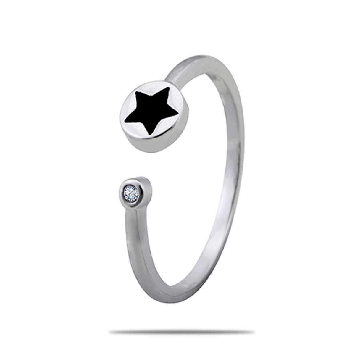 Black Star Silver Ring