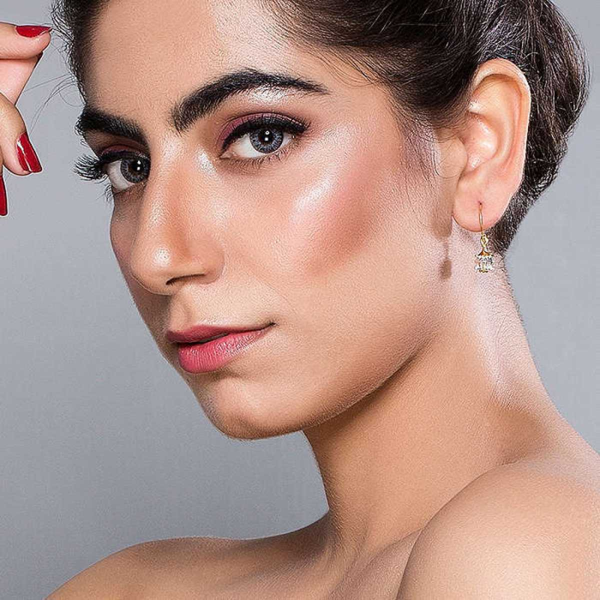 Jhumka Style Drop Silver Earring