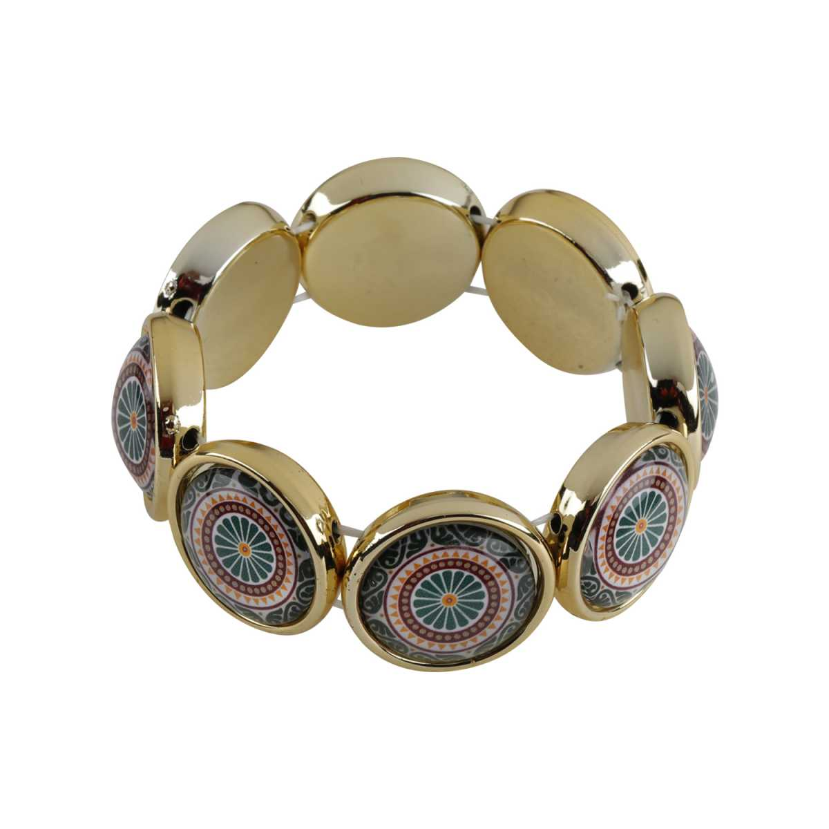 Multi-Colour Enamel Print Stone New Fashion Coff And Kada Bracelet For Girls And Women