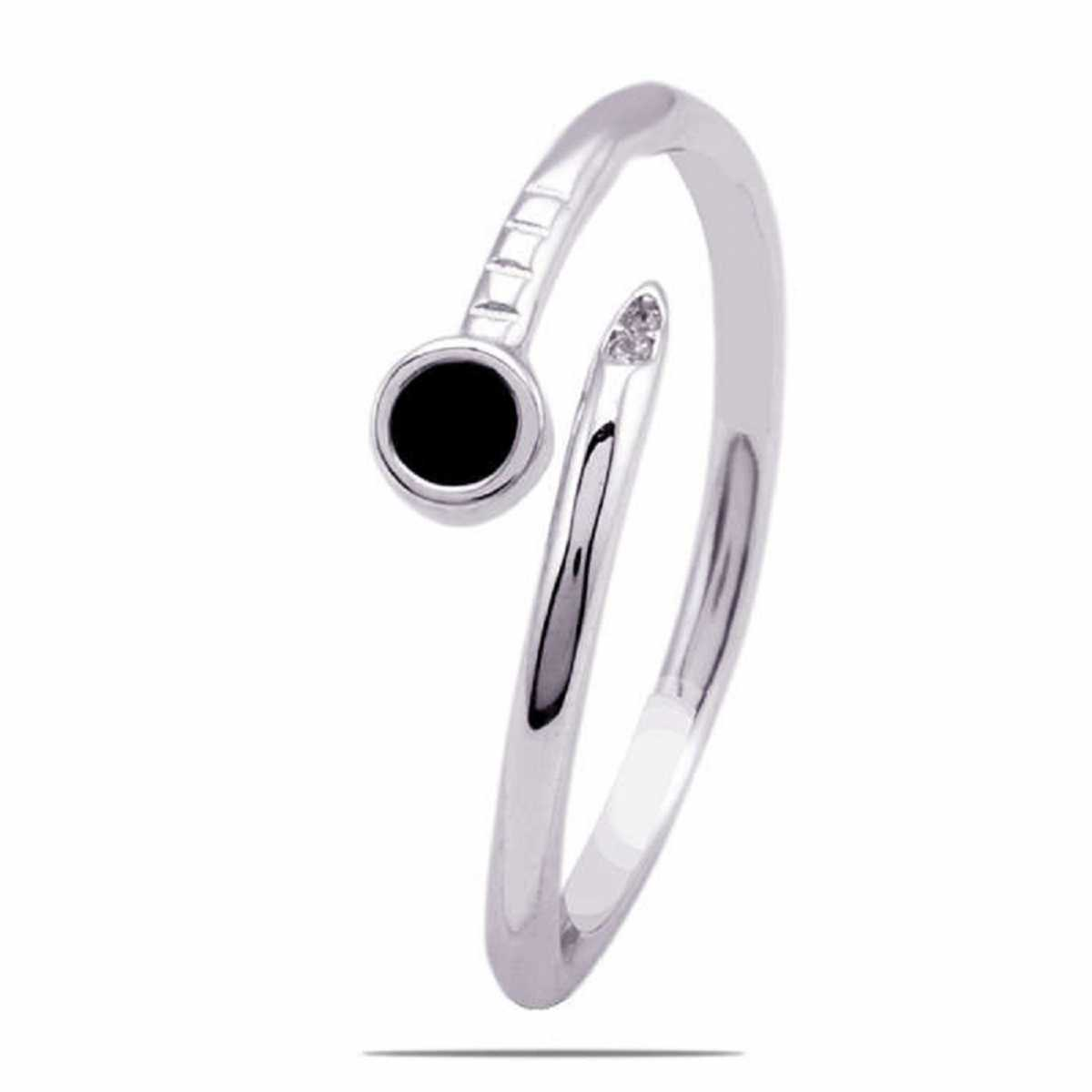 Black Point Sterling Silver Ring