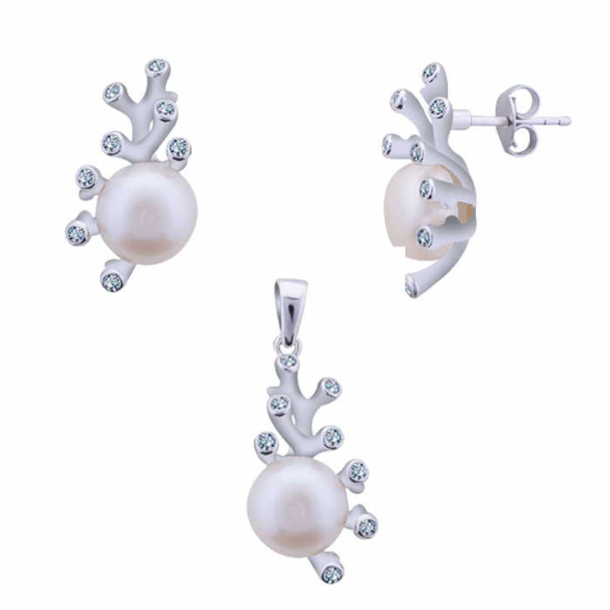 Beautiful Pearl Pendant Set