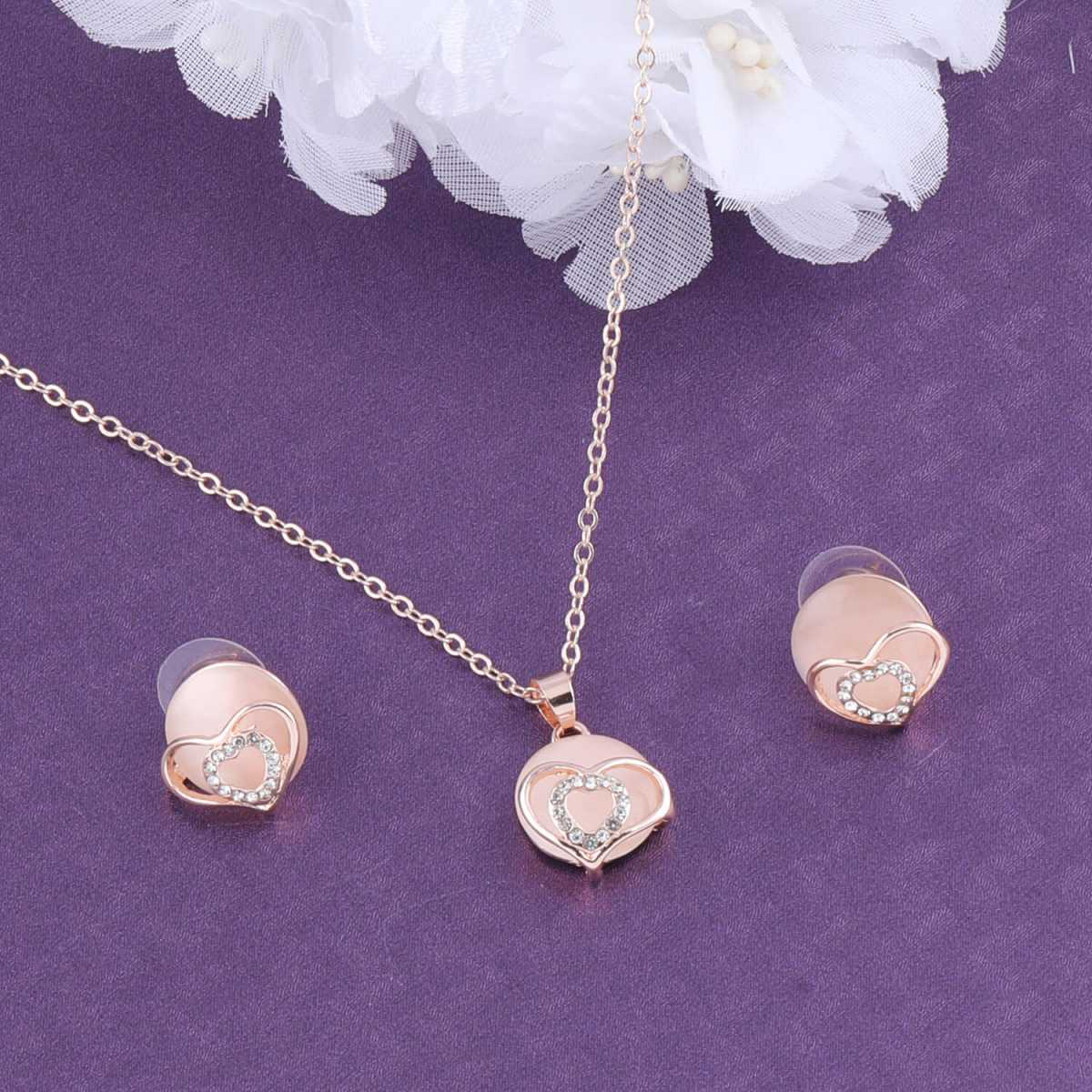 SILVER SHINE Exclusive Delicate Stylish  Pendant Set For Women Girl