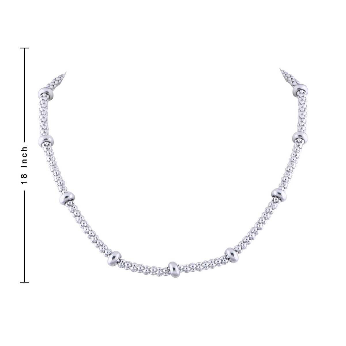 SilverPlated Classic Ball Chain For Men and boy Jewellery
