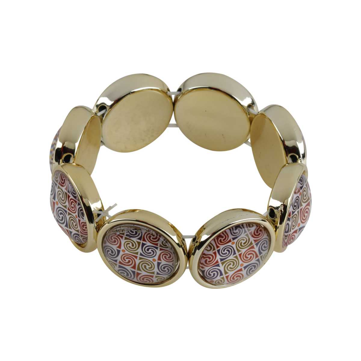 Multi-Colour  Enamel Print Stone Coff And Kada Bracelet For Girls And Women