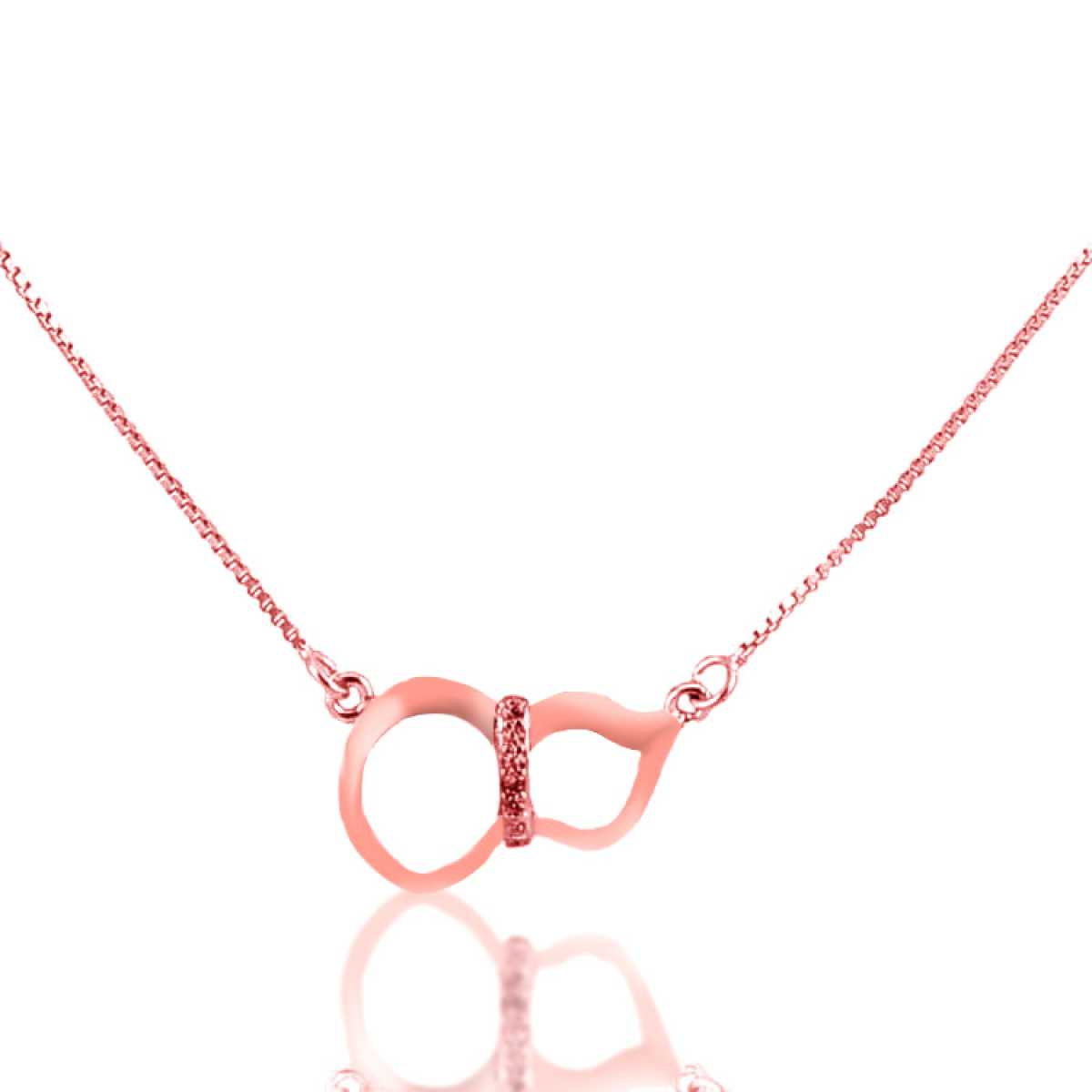 Eight Rose-Gold Sterling Silver  Chain