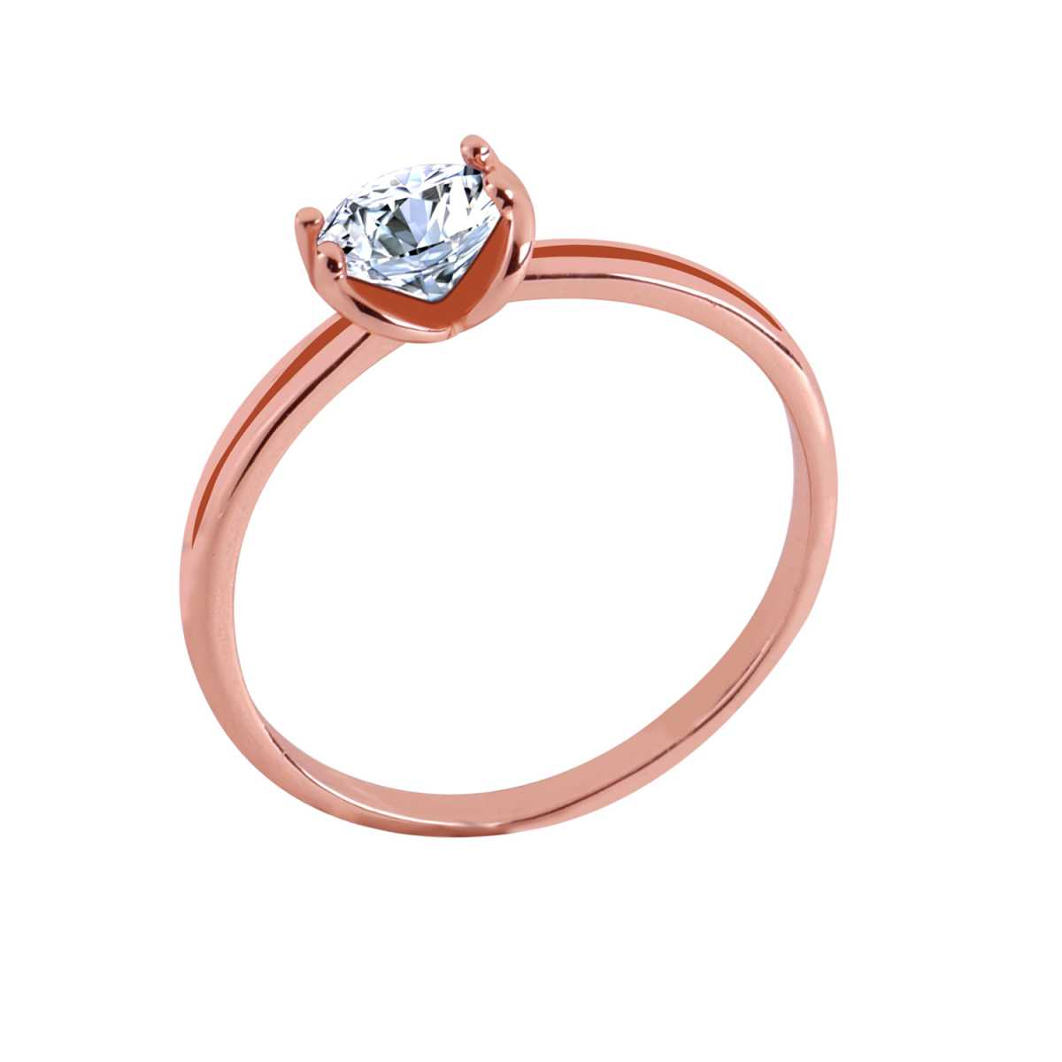 Silver Shine Rose Gold Plated Classic Solitaire Ring for Girls and women,wedding ring,jewelry,diamonds,fashion jewelry,couple rings.