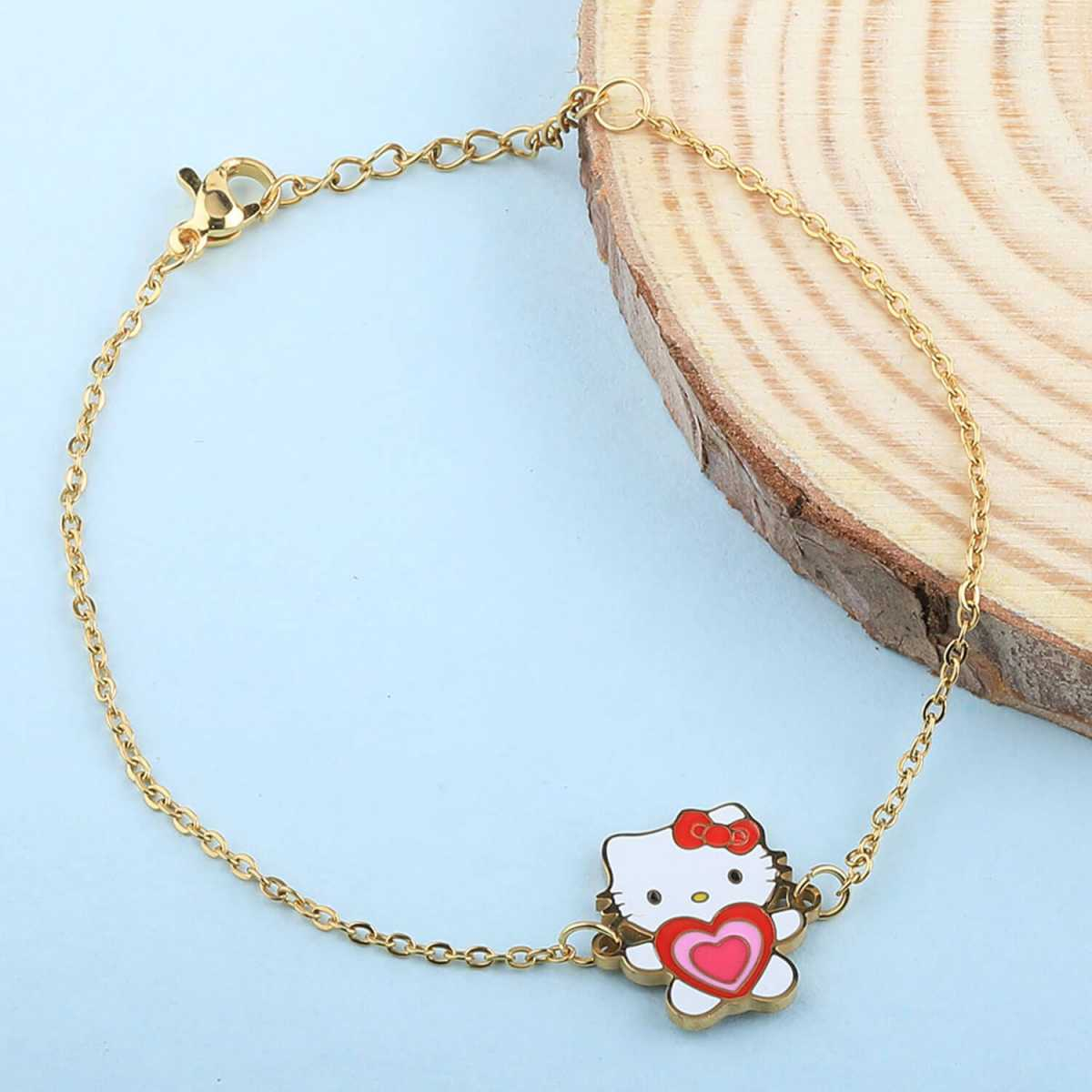 SILVER SHINE Antique Gold Plated Pretty Doll Pandent Shape Anklet For Women Girl
