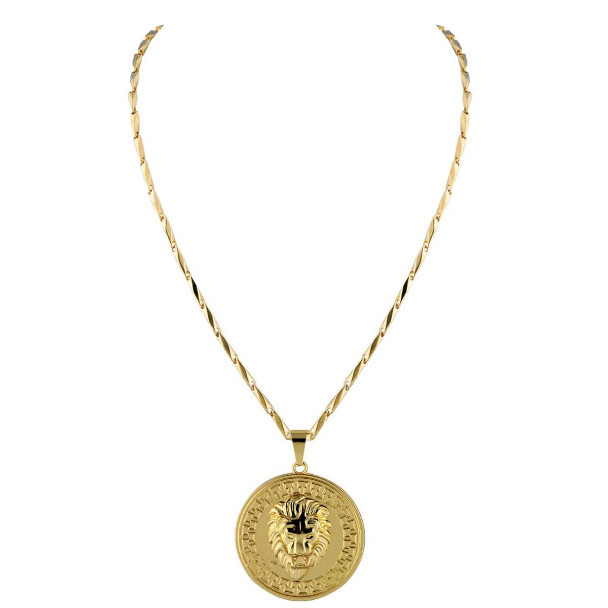 Goldplated Gorgeous Chain With Lion Pendant For Men and boy Jewellery