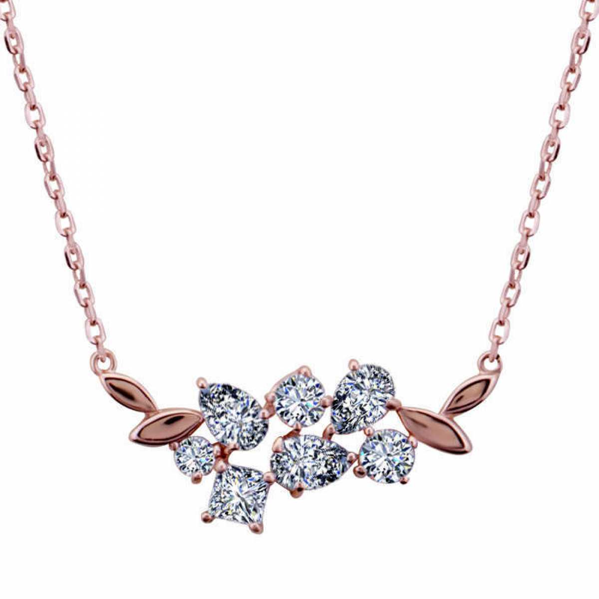Unique Leaf Rose Gold Chain