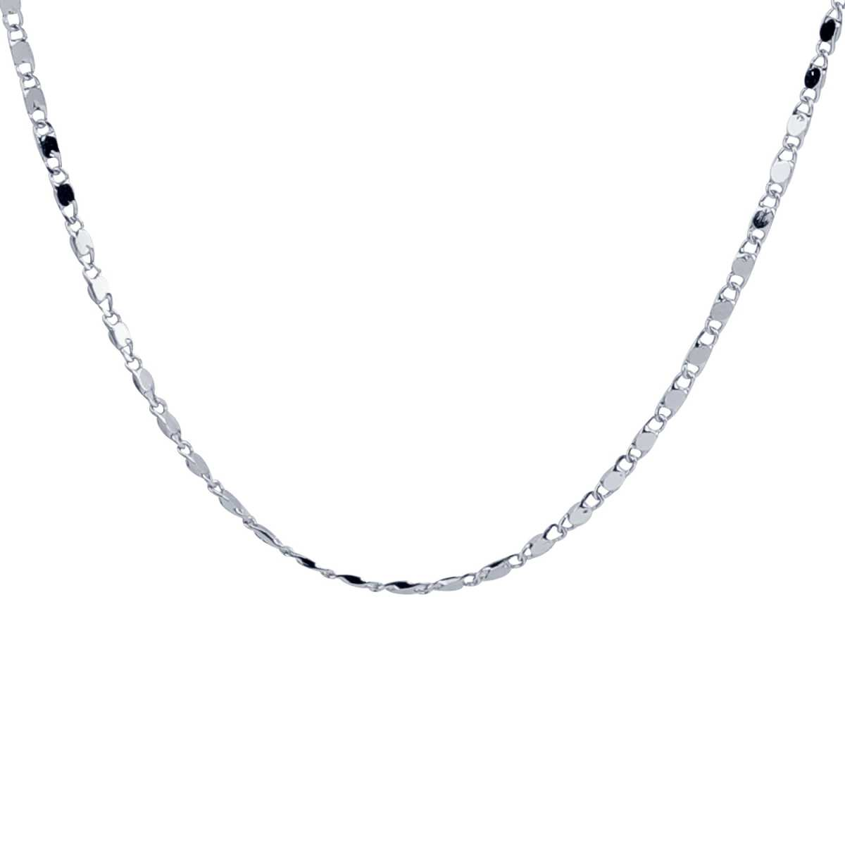 Silver Shine Ethnic Silver Plated Simple Design Chain Of 17 Inch Daily Wear Jewellry For Girls/Boys/Men/Women