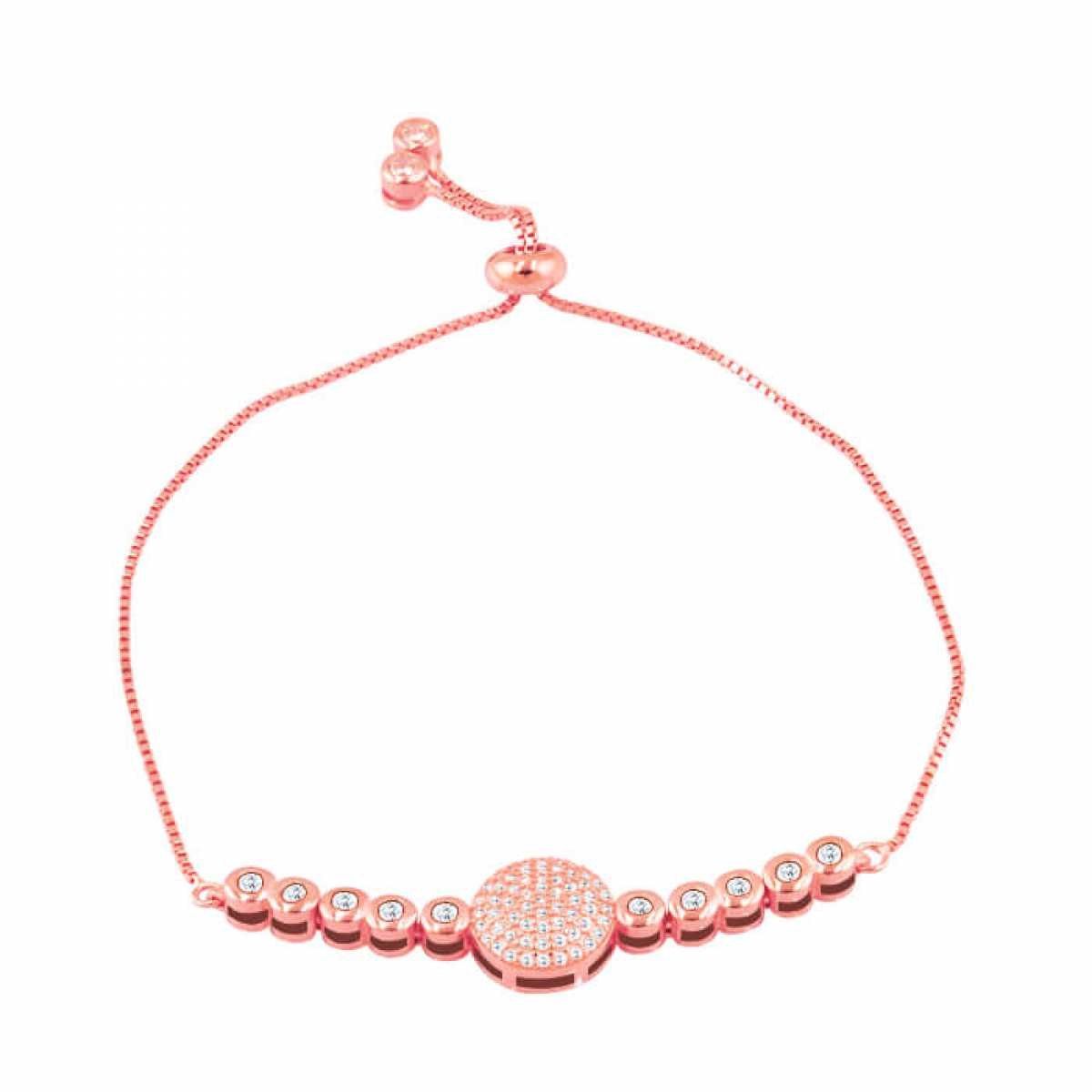 Charming Round Shape With Diamond Bracelet