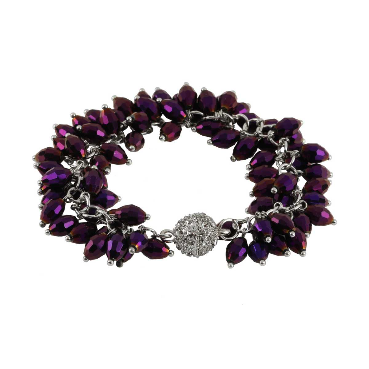 Purple Pearl Diamond Bracelet For Girls And Women