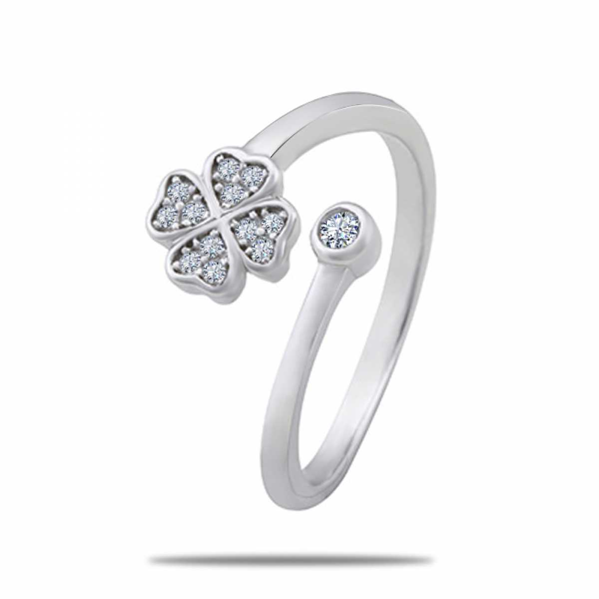 Flower With Diamond Ring
