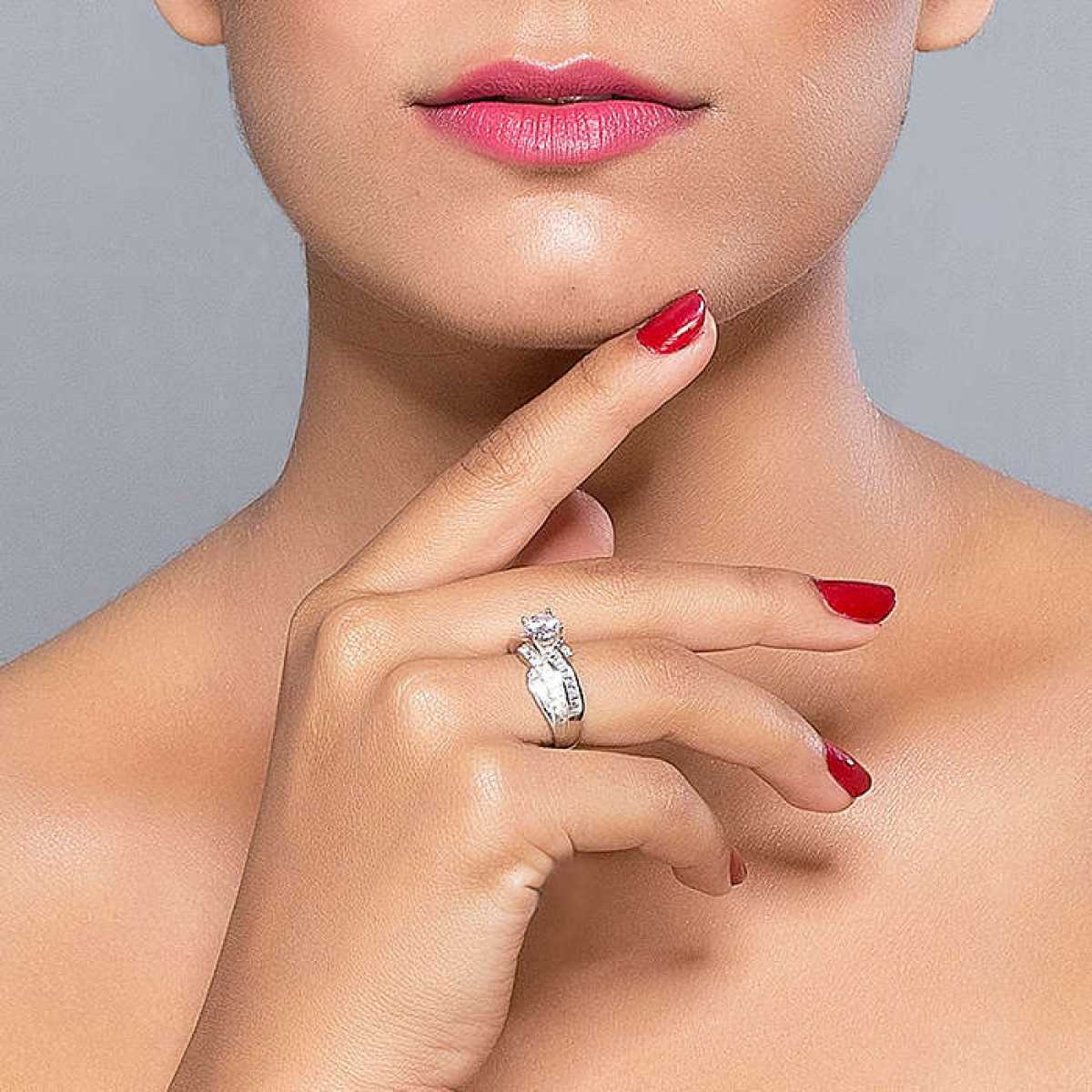 King size sterling silver ring