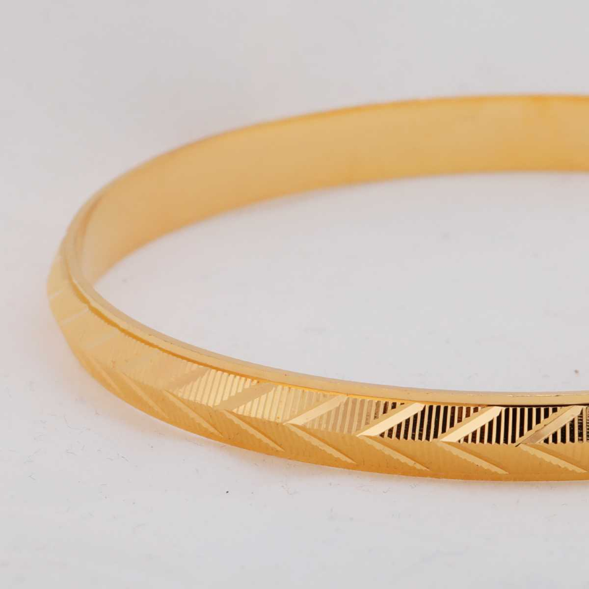 Silver Shine Gold Plated Metal Cross Design Punjabi Kada Bangle Bracelet For Boys and Mens.