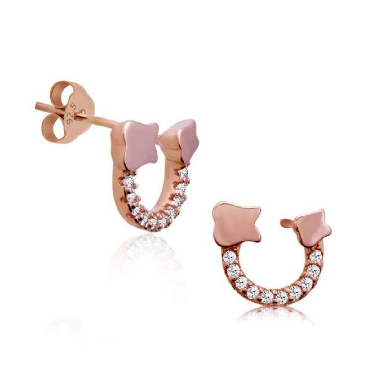 C Silver Rose Earring