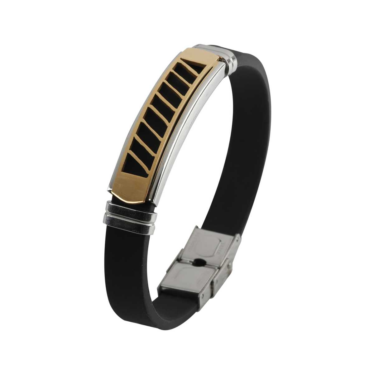 Black Leather Two-Way  Cross Bracelet Wristband Style Bracelet For Boys And Men