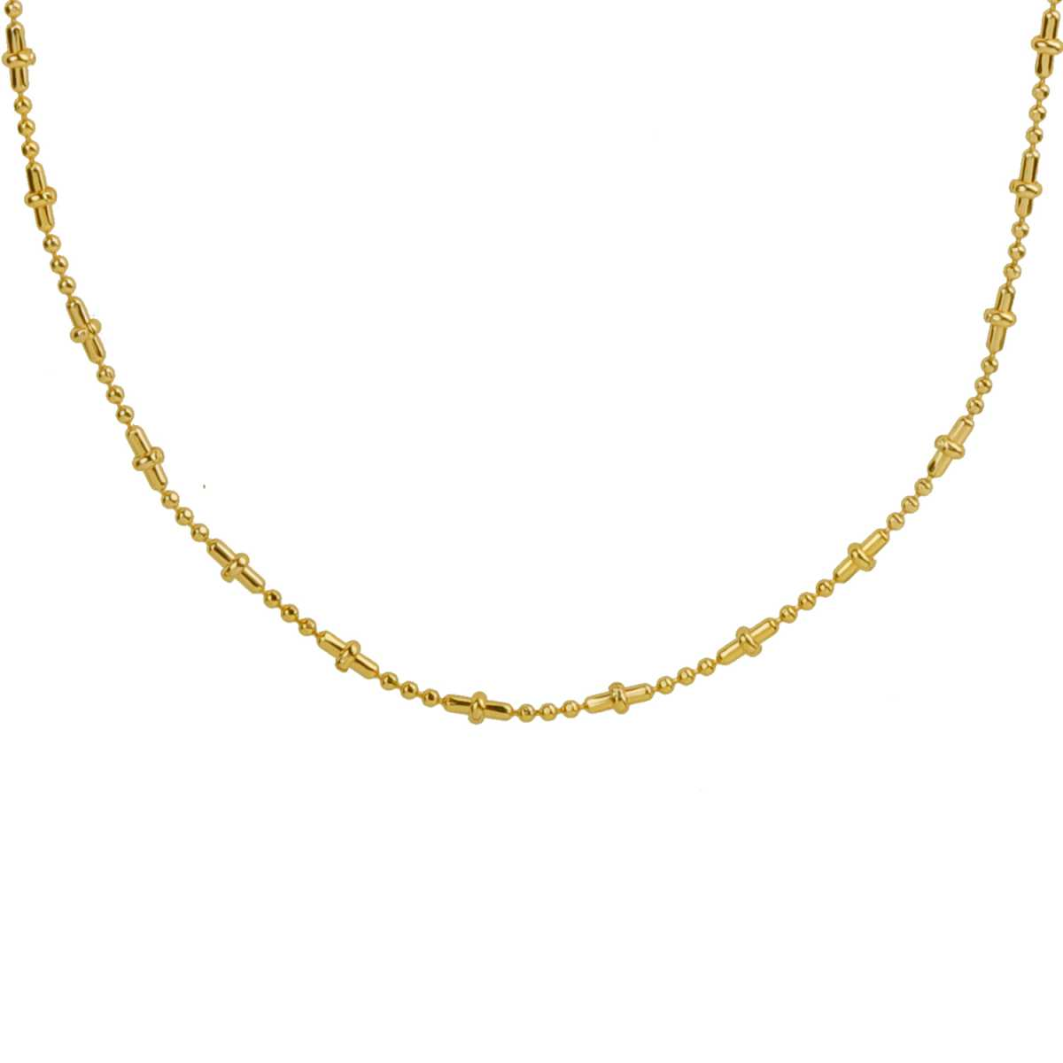 Silver Shine Classic Gold Plated Simple Design Chain Of 17 Inch Daily Wear Jewellry For Girls And Women