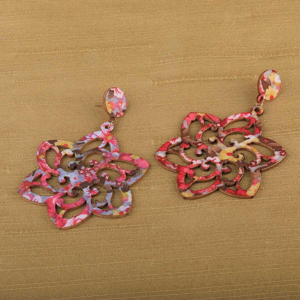 SILVER SHINE Elegant Dangler Wooden Earrings For Girls and Women …