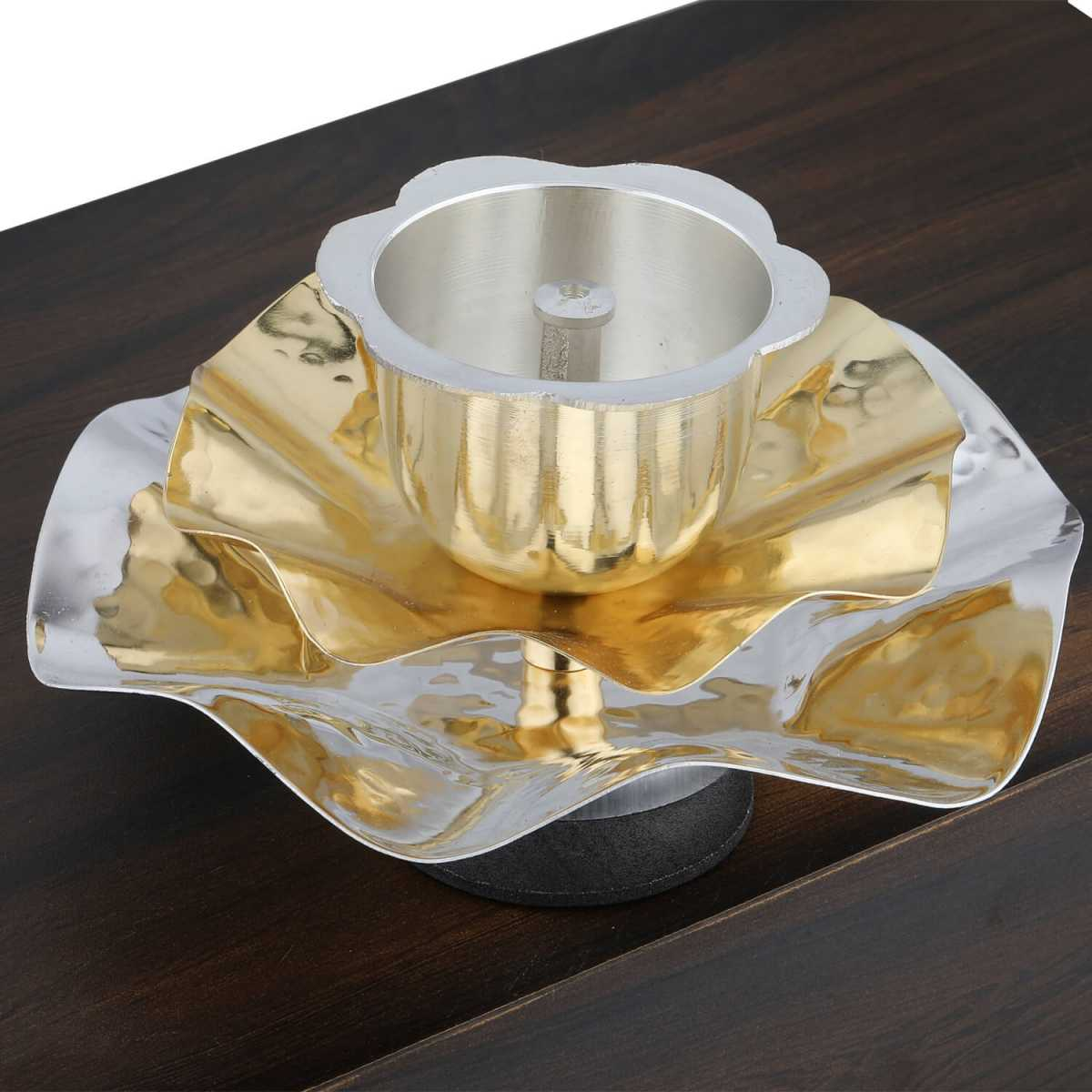 Silver Shine Gold Plated Designer Agarbatti Holder