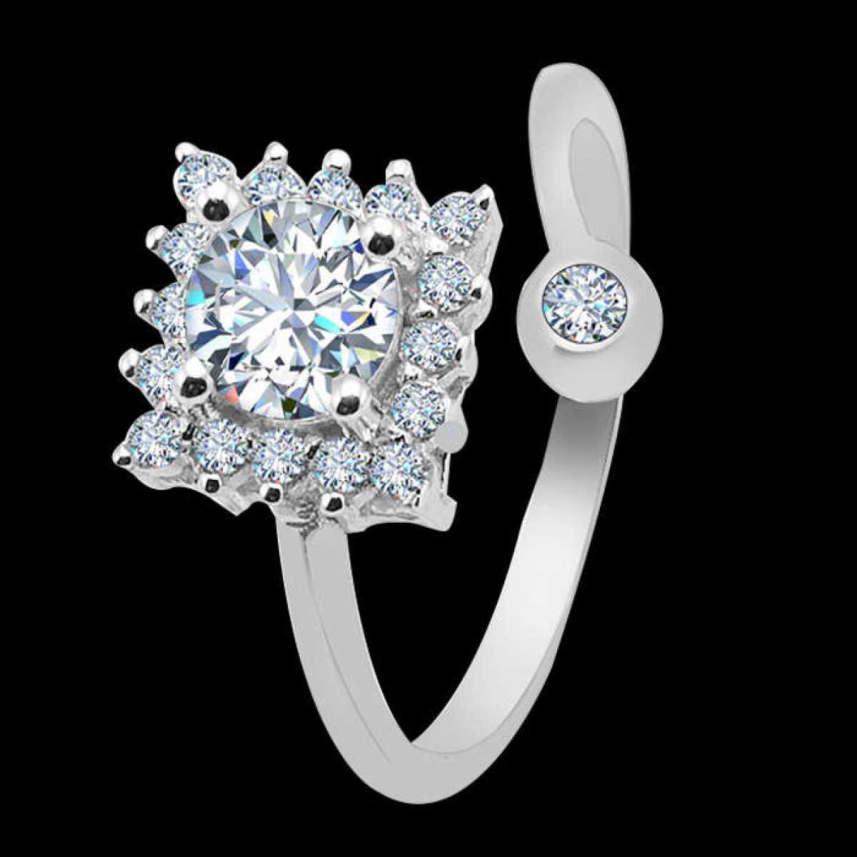 Bulk Solitaire Silver Ring