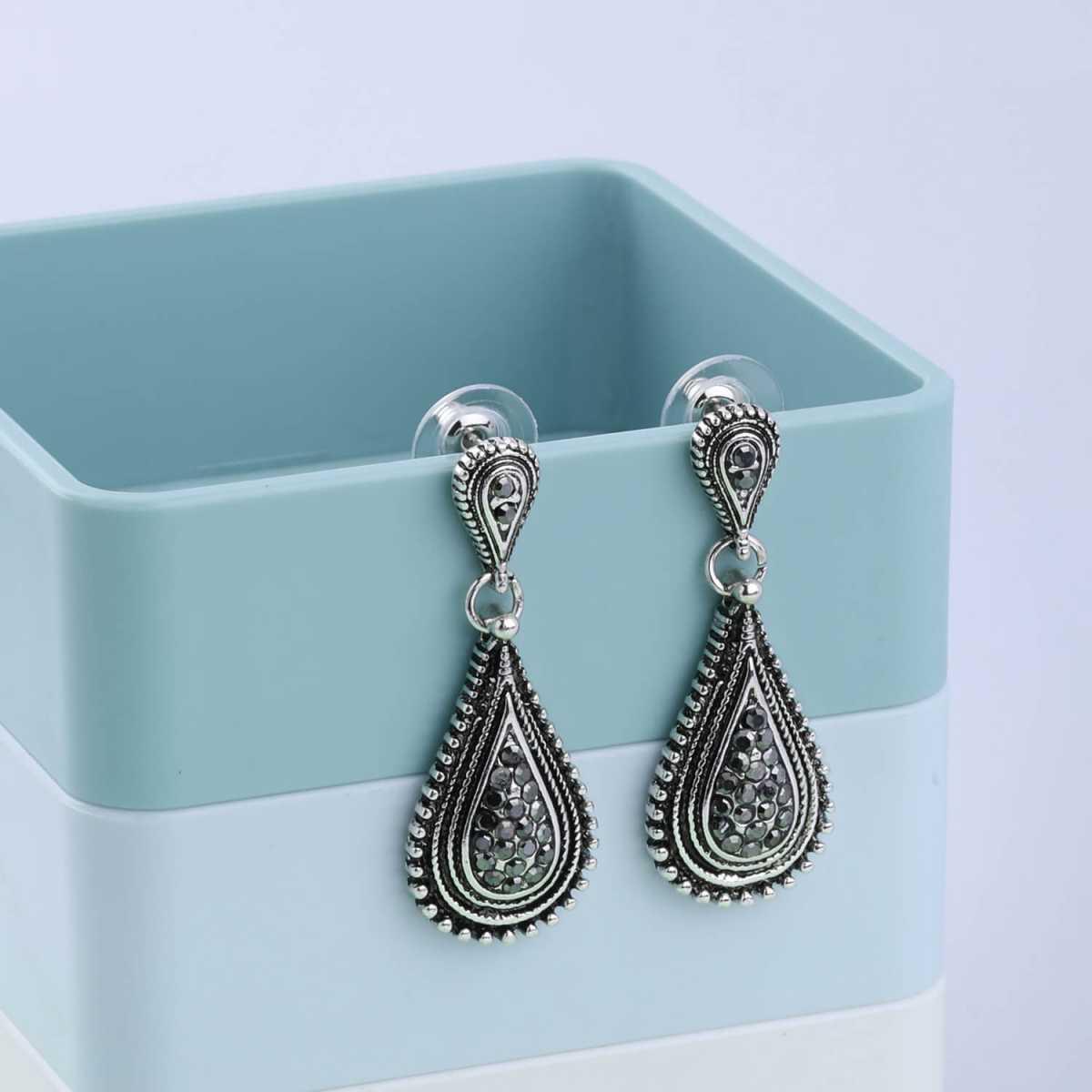 SILVER SHINE Oxidised silver Party Wear Dangle Earring For Women Girl