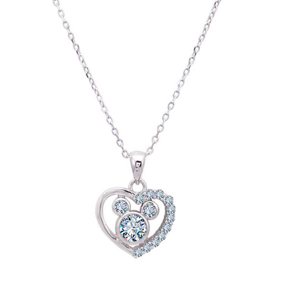 Heart With Three Diamond  Chain