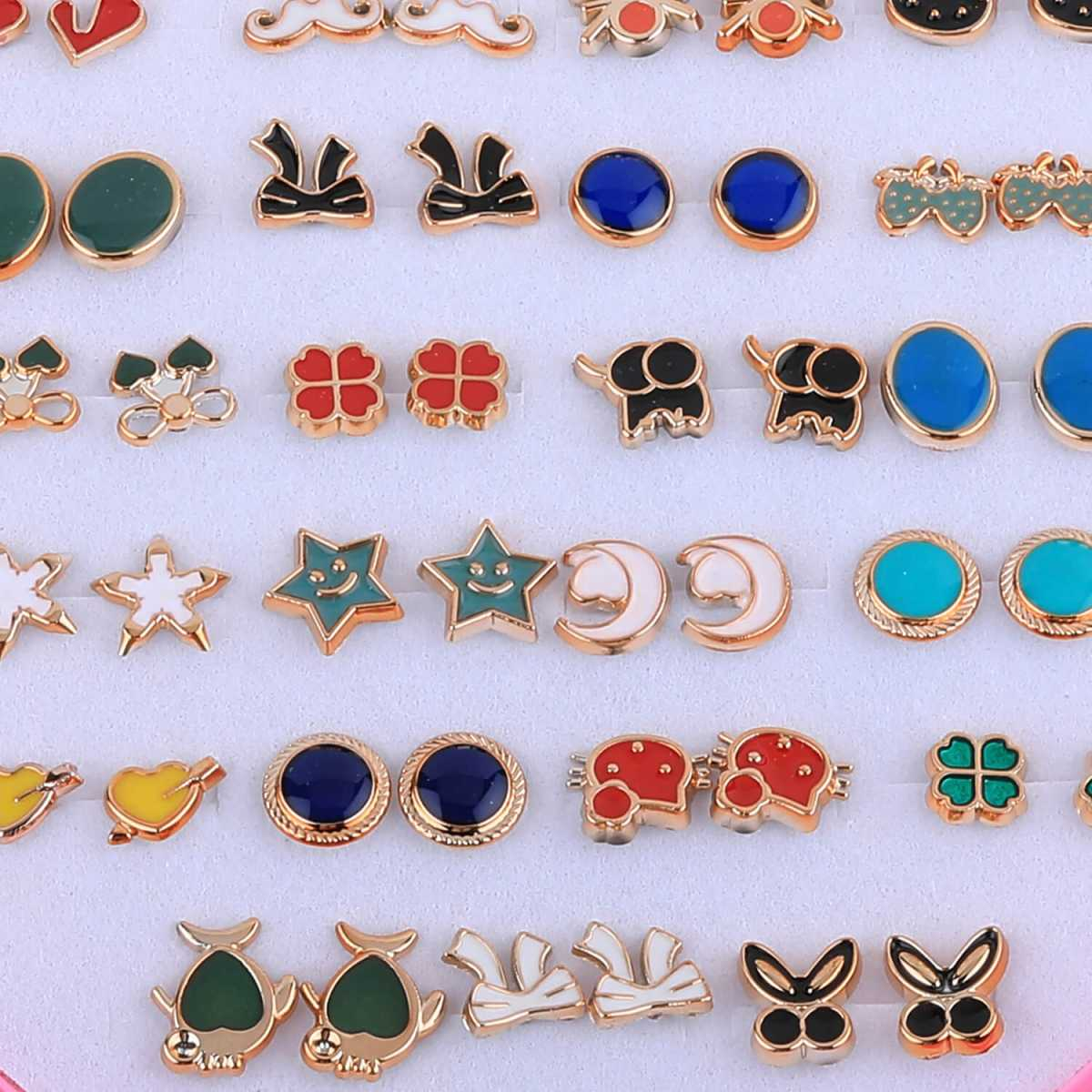 Silver Shine Golden And Multi colour Earring , Set of 36 Earrings for Womens And girls.