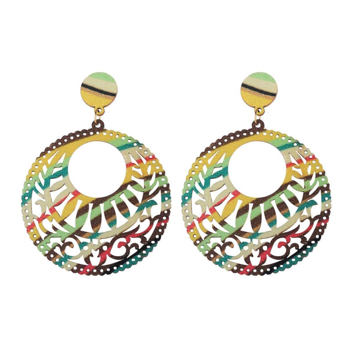 SILVER SHINE Handmade Party Wear Natural Wood Earring for Perfect and Different Look For women