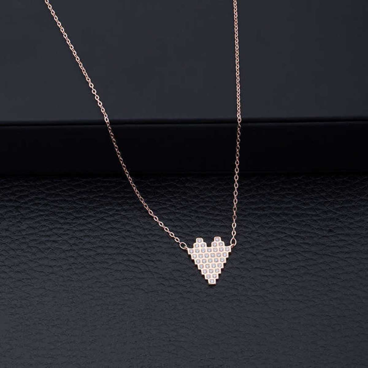 Box Heart Diamond Chain