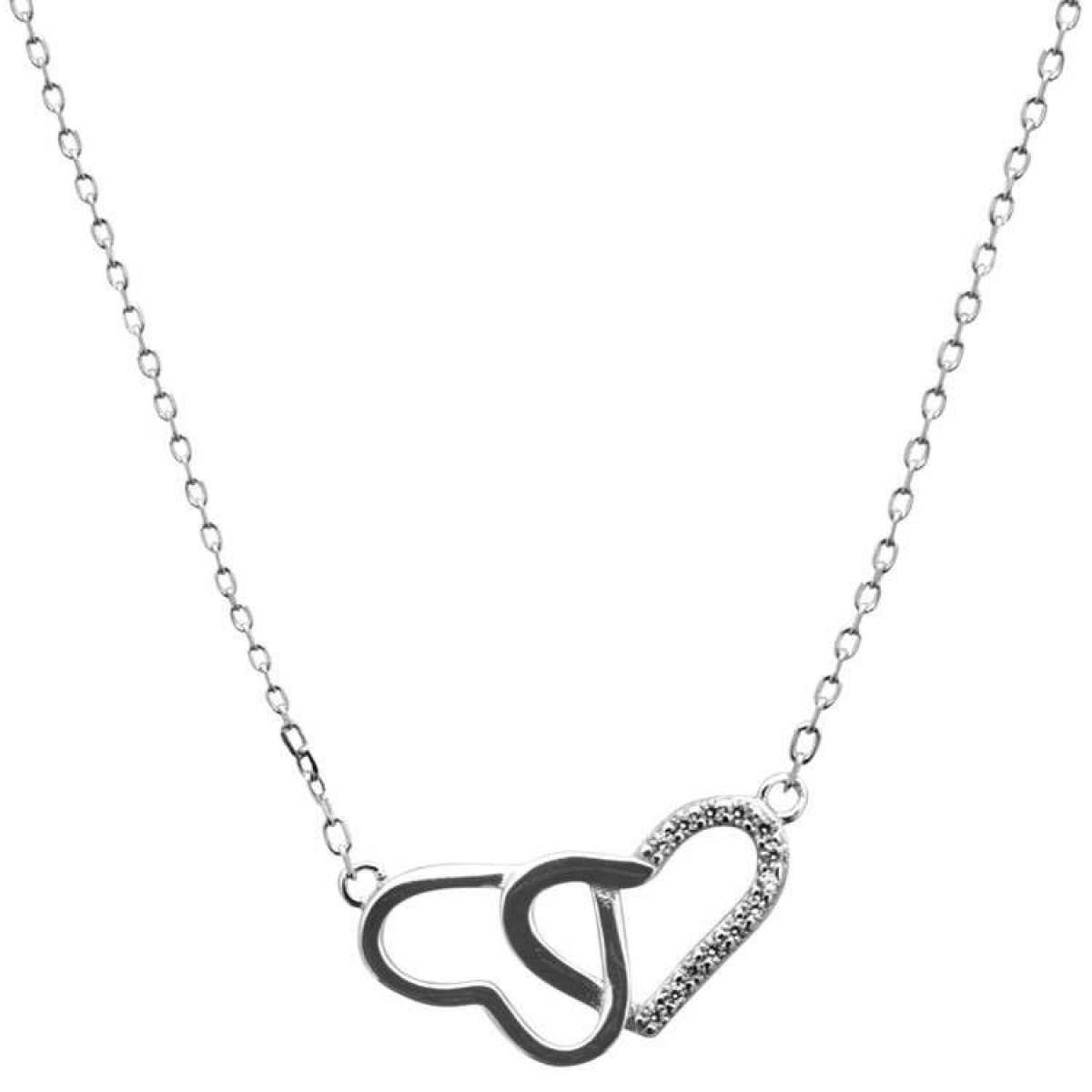 Heart Connected Sterling Silver  Chain