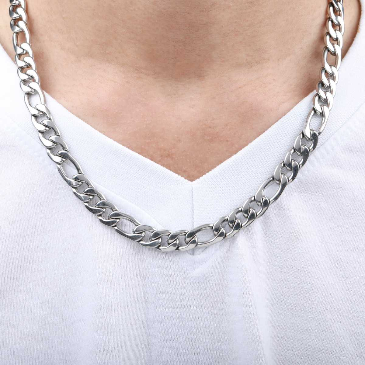 SilverPlated Attractive Figaro Chain For Men and boy Jewellery