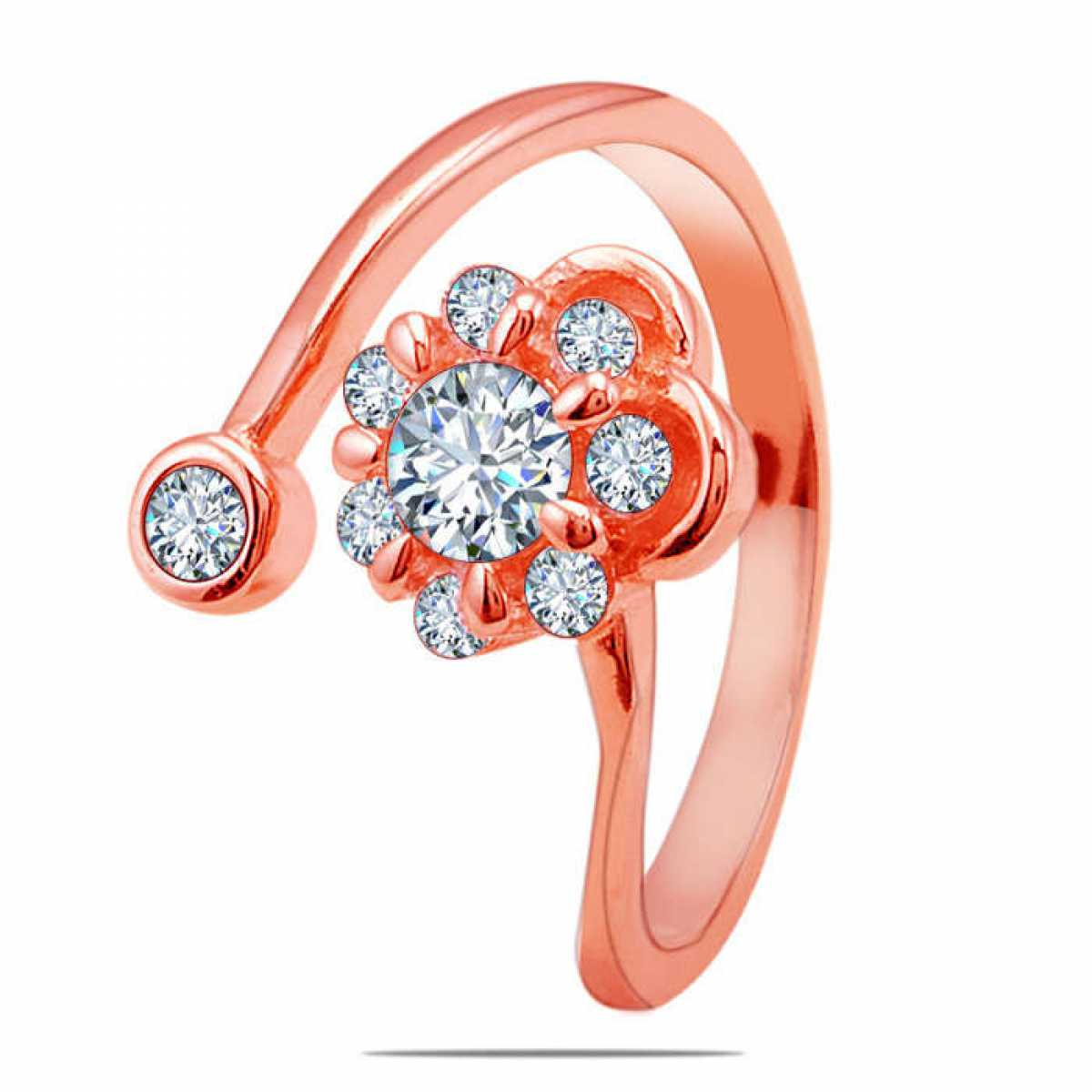 Rose-gold Diamond Flower