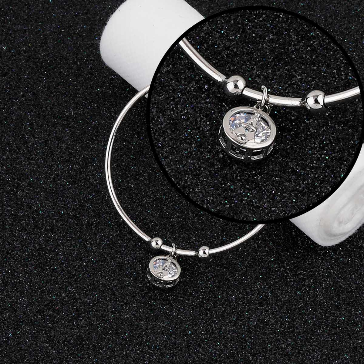 SILVER SHINE Party Wear Charm Delicated  Adjustable Bracelet With Diamond For Women Girls