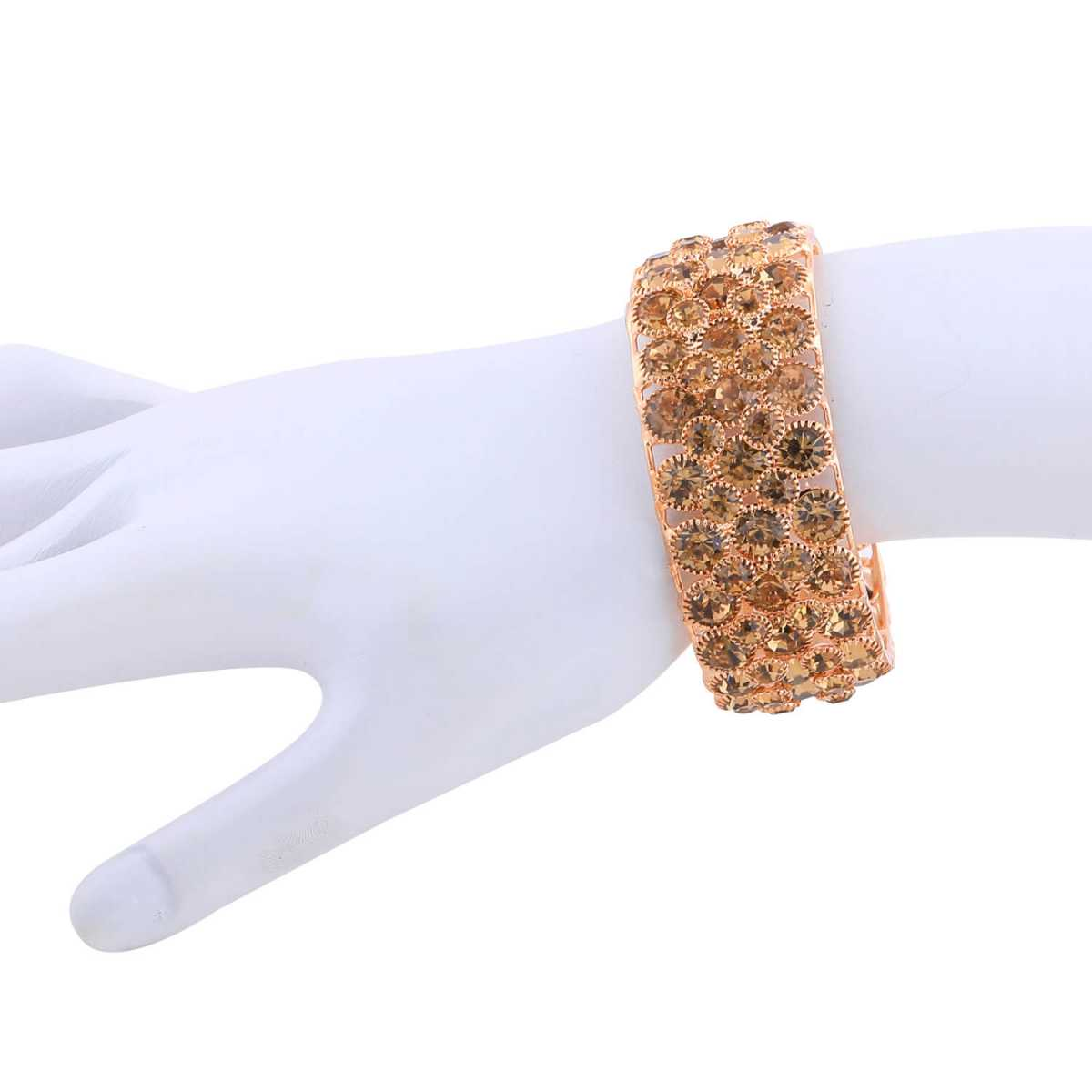 SILVER SHINE Attractive Gold Plated Bracelet for Girls Women