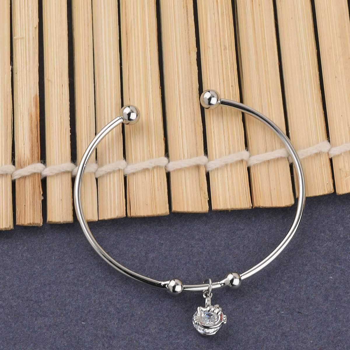 SILVER SHINE Stylish Delicated  Adjustable Bracelet With Daimond For Women Girls