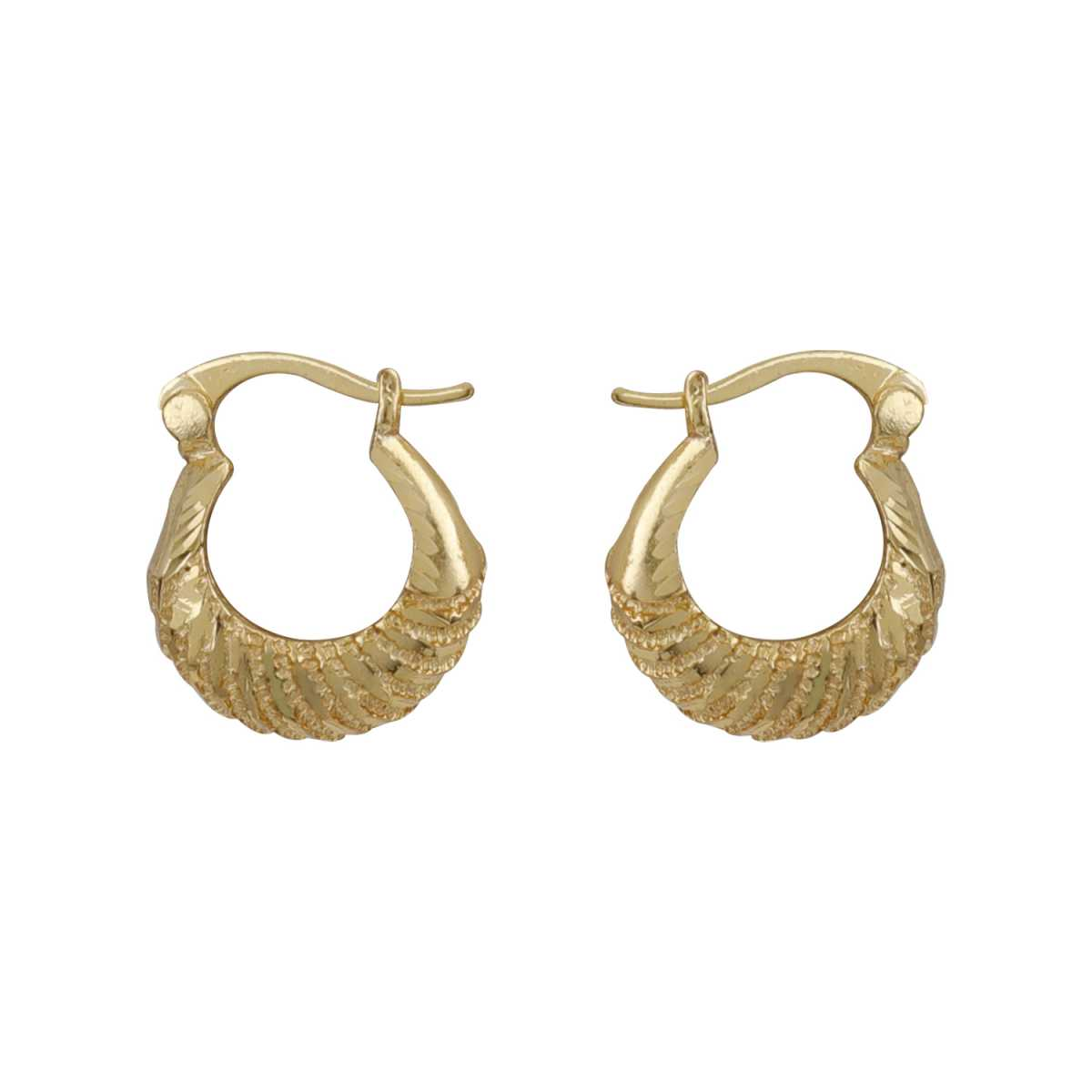 Silver Shine Fashionable Gold Trendy Small Sober Design Hoop Bali Earring