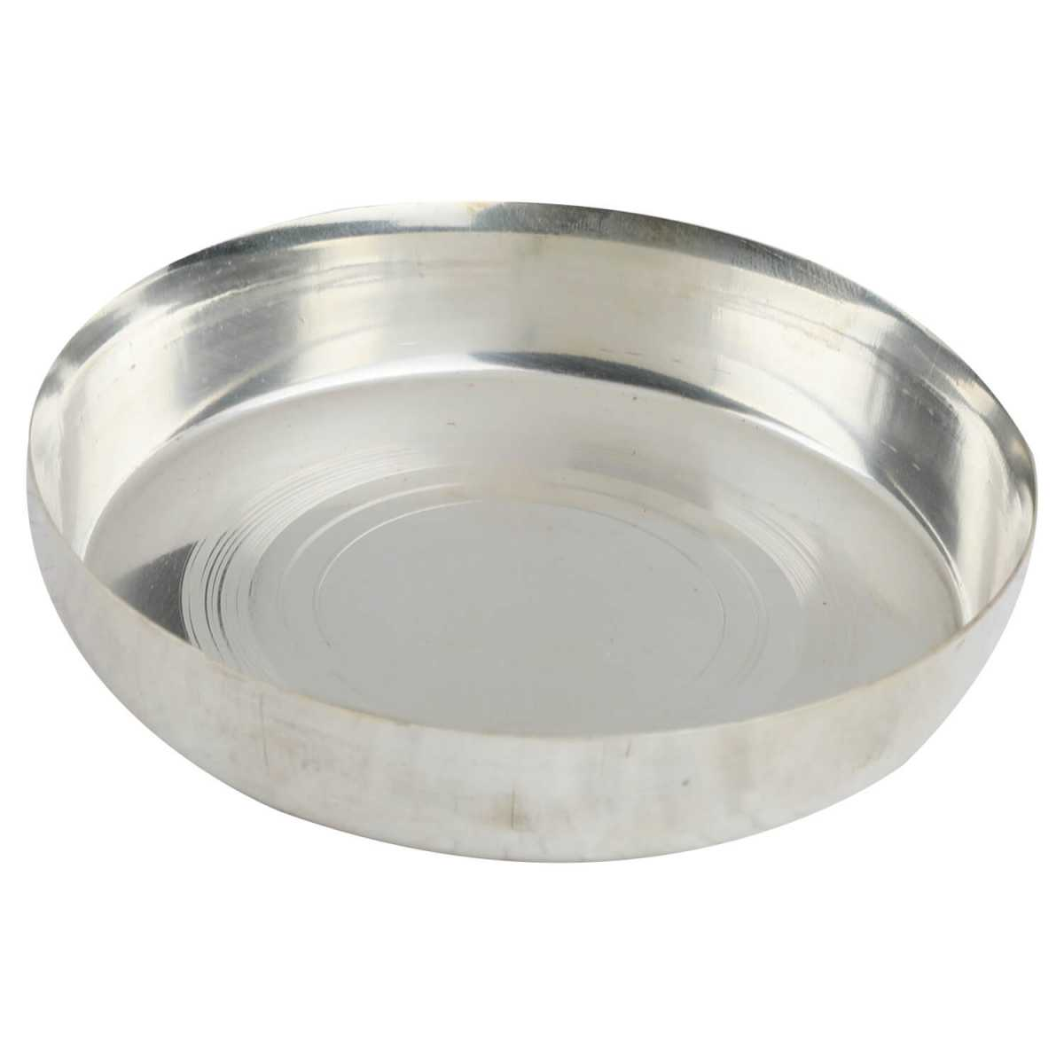 Silver Shine Silver Plated Thali For Multi Purpose use Set of 1