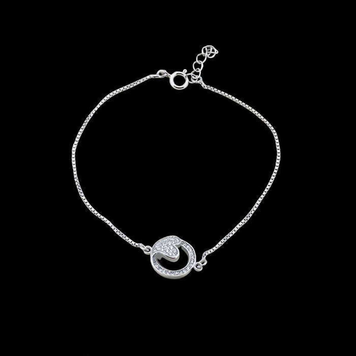 Friendship Heart In Round Bracelet