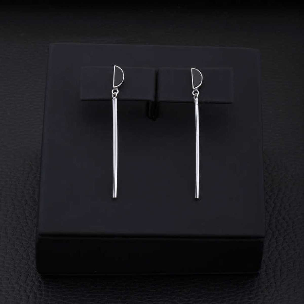 Long Bar Stud Earring