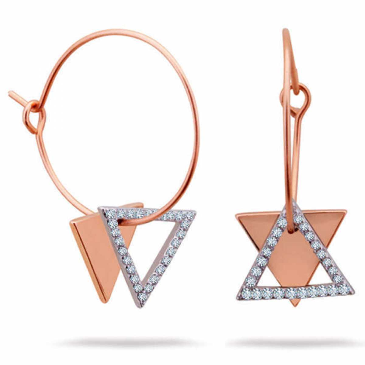 Circle Triangle Dangle Earring