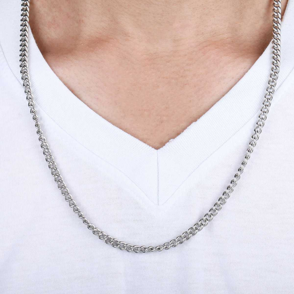 silverplated Funky Style Chain for Men and Boy Jewellery