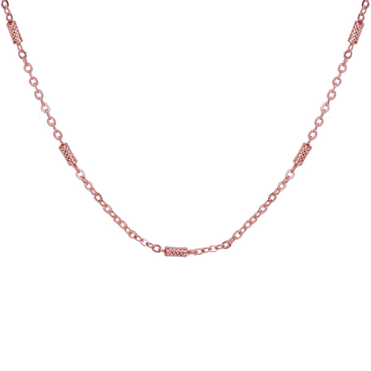 Silver Shine Eye-Catching Gold Plated Simple Design Chain 18 Inch Daily Wear Jewellry For Girls And Women