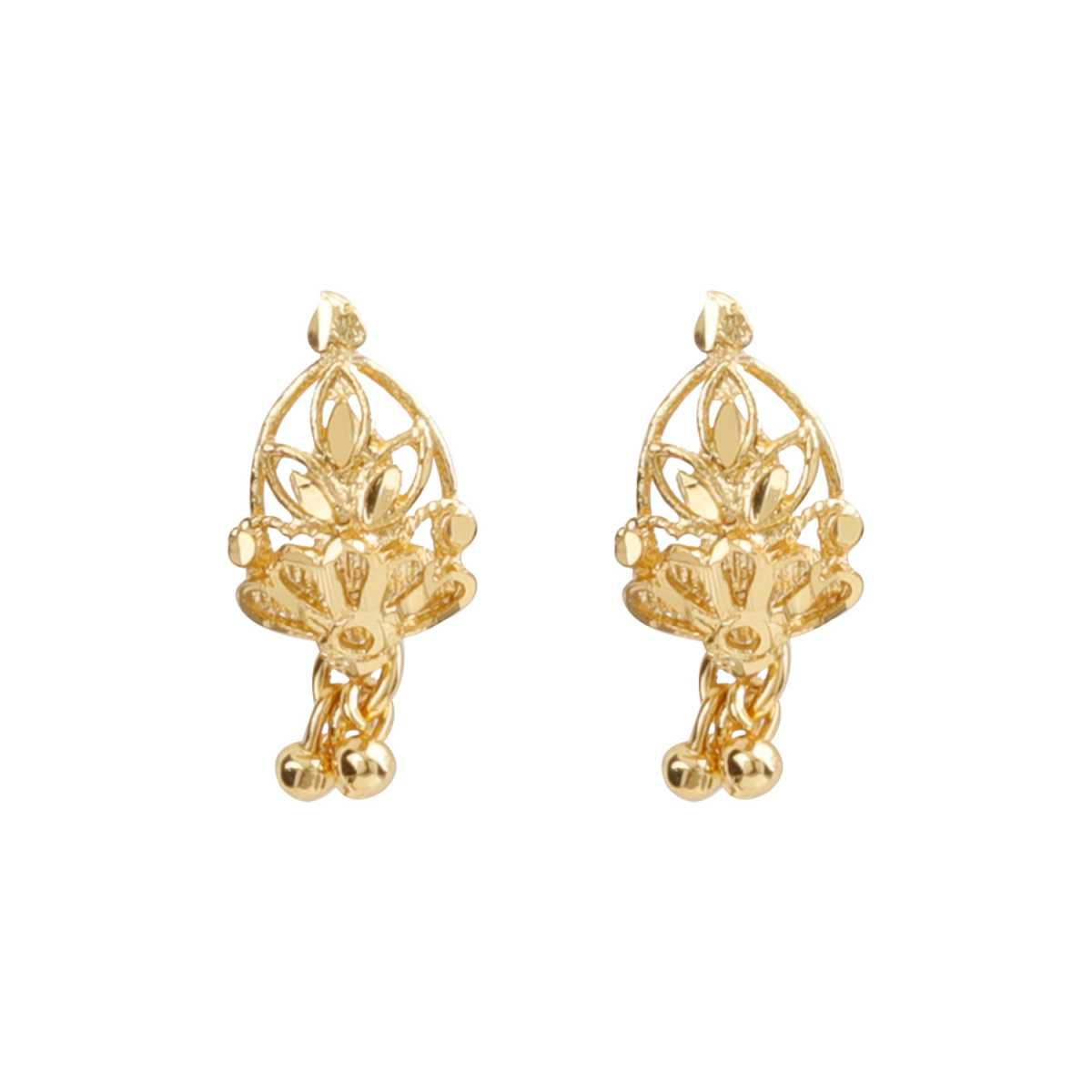 Silver Shine Elegant Gold Attractive Traditional Stud Earring For Women